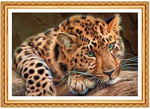 Diamante bordado leopardo completo cuadrado diamante pintura punto ...