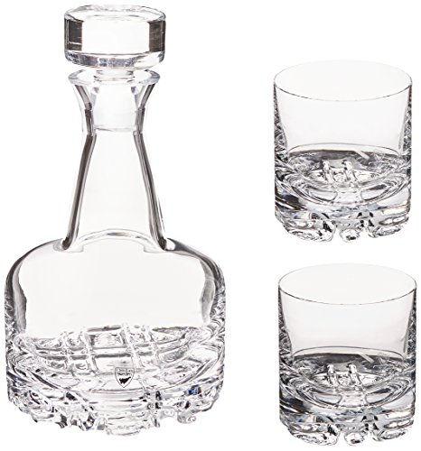 3 Piece Decanter Set (Orrefors Erik 3 Piece Set, Decanter and 2 Double Old Fashioned Glasses)