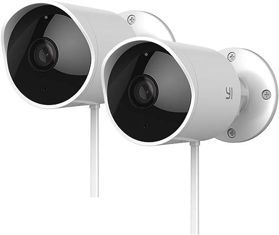 YI Outdoor Security Camera 2pc
