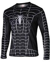WUKE Men's Cosplay Spider Long Shirt