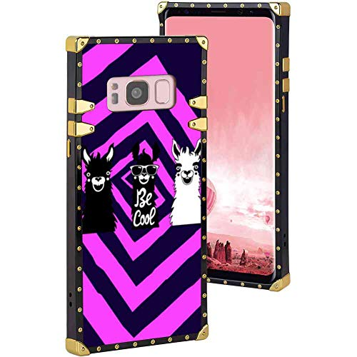 Soft Shine Reinforced Edges Bumper Cool Alpaca Protective Phone Case Compatible with Galaxy S8 Cool Luxurious Girls