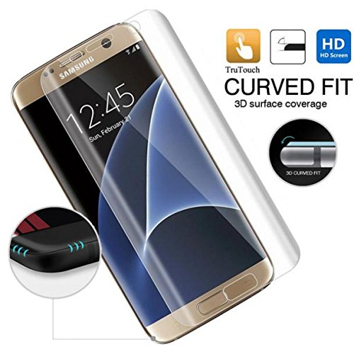 Samsung Galaxy S7 Edge Screen Protector, Full Cover Screen Protector HD Clear LCD Film Curved Display Touch Screen Guard [Edge to Edge] for Galaxy S7 Edge