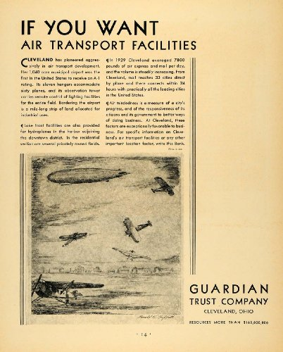 1930 Ad Guardian Trust Bank Investment Harold Griffith   Original Print Ad