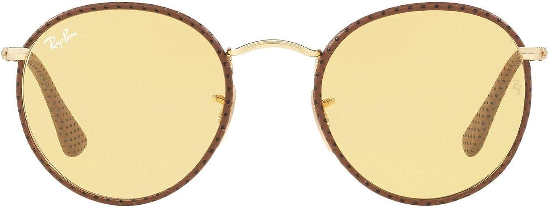 RAY-BAN 3475q Gafas de sol, Leather Light Brown, 50 para Hombre
