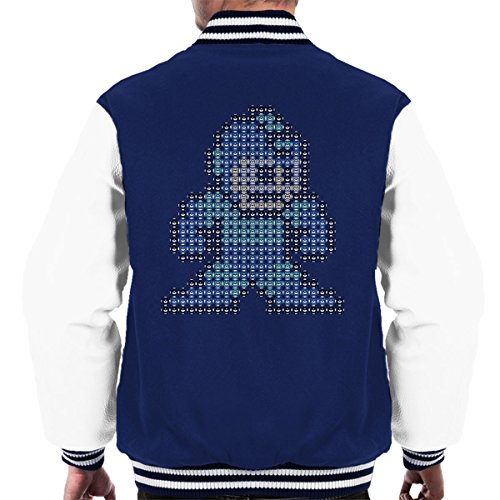 white Navy Jacket Varsity Men's Mega Pixel Man qwA0YnBF