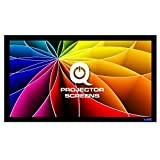 QualGear 120-Inch Fixed Frame Projector Screen, 16:9 3D High Reflective Silver at 2.5 Gain (QG-PS-FF6-169-120-S)