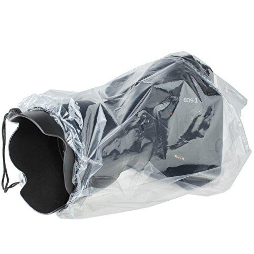 Quenox Einweg-Regenschutzhülle (Regenschutz, Regenhülle) für spiegellose Systemkamera (DSLM-Kamera) 2 Stk. transparent - made by JJC