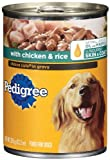 Pedigree Choice Cuts in Gravy with Chicken and Rice Food for Adult Dogs, 13.2-Ounce Cans (Pack of 24), My Pet Supplies