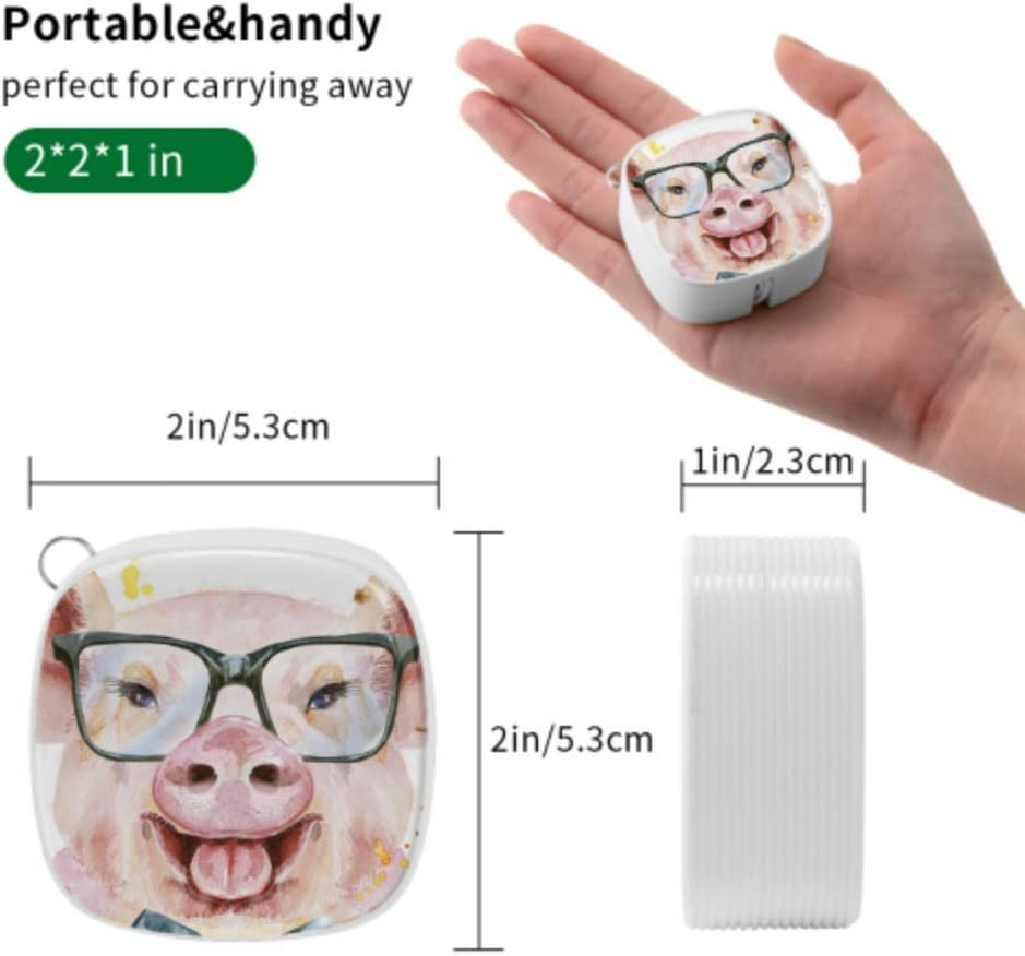 Fast Charge Cable Multi Cartoon Pink Pig Wear Glasses Multi 3 in 1 Retractable USB Cell Phone Charger Cable with Micro USB//Type C Compatible with Cell Phones Tablets and More
