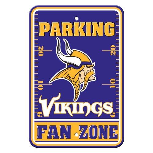 Vikings Sign Minnesota Parking (NFL Minnesota Vikings Plastic Parking Signs)