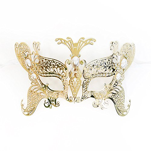 Beyondmasquerade Kids Girls Masquerade Mask Gold