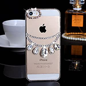 Bonzer Bling Clear Gem Diamond Hard Case Cover For Samsung Note 2 3 IPhone 4 5 Phone (For_Apple_IPhone_5/5s)