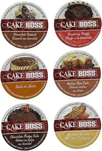 Price comparison product image 30-count Cake Boss Flavored Coffee Single Serve Cups For Keurig K cup brewer Variety Pack Sampler