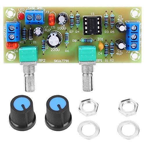 Placa de circuito impreso de preamplificador, filtro de paso bajo de alta calidad Subwoofer Control de volumen Modulo de placa de preamplificador DC10-24V
