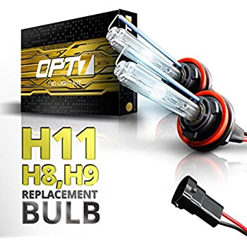 OPT7 Bolt AC H11 Replacement HID Bulbs Pair [5000K Bright White] Xenon Light