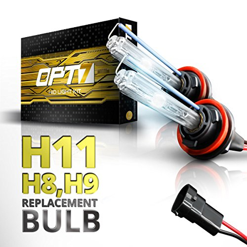 Pilot Hid Lights (OPT7 Bolt AC H11 Replacement HID Bulbs Pair [5000K Bright White] Xenon Light)