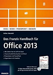 Das Franzis Handbuch für Office 2013, m. CD-ROM