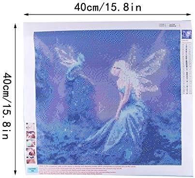 Diamond Painting 5D Completo Grande Hermosa Fantas/ía De Hadas Diamante Bordado En Punto De Cruz Kit De Mosaico Diy Full Drill/Stitch 30X30Cm HUA5D