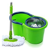 Hand Pressing 360 Spin Mop with aluminum basket spinning