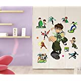 Ben 10 Wall Stickers With Decor Decal Art For Kids Nursery Bedroom,