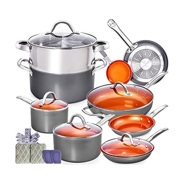 Home Hero Copper Pots and Pans Set - 13pc Copper Cookware Set Copper Pan Set Ceramic Cookware Set Ceramic Pots and Pans… 1