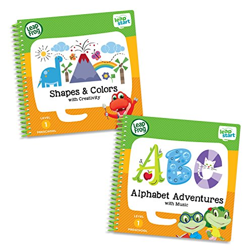 LeapFrog LeapStart Level 1 Preschool Activity Book Bundle with Alphabet Adventures, Shapes and ()