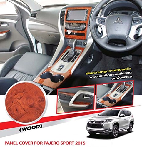 K1AutoParts (For RHD Only) Panel Wood Woodgrain Wooden Style Cover Trim Dash Kit For Mitsubishi Montero/Pajero Sport 2015 2016