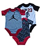 Jordan 3 Piece Bodysuit Set - Baby (Black, 9-12 Months)