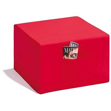 Badenia Bettcomfort 03610114502 Madrid - Futón Convertible en Asiento, Color Azul Oscuro con Funda roja [Importado de Alemania]