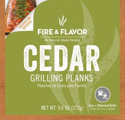 Lowest Price! Fire & Flavor 4 Count Single Serving Grilling Plank, 6 by 6-Inch, Cedar