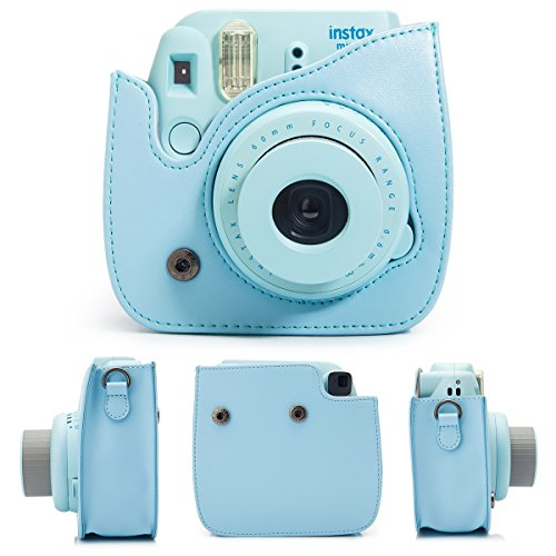 7-in-1-Fujifilm-instax-Mini-8-Instant-Camera-Accessories-Bundles-Mini-8-CaseMini-AlbumClose-Up-selfie-Lens-Close-Up-LensHanging-FramesFilm-Frame-Film-Stickers