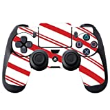 Christmas Red Candy Cane PS4 DualShock4 Controller Vinyl Decal Sticker Skin by Moonlight Printing