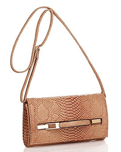 JEZZELLE - Bolso de asas para mujer marrón marrón talla única