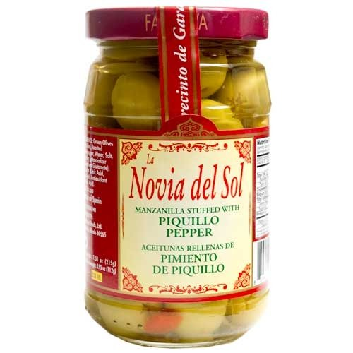 Manzanilla Olives with Piquillo Peppers - 6 pack by ChefShop