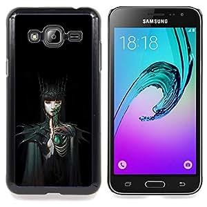 Stuss Case / Funda Carcasa protectora - Mujer Negro oscuro cuento de hadas - Samsung Galaxy J3 GSM-J300
