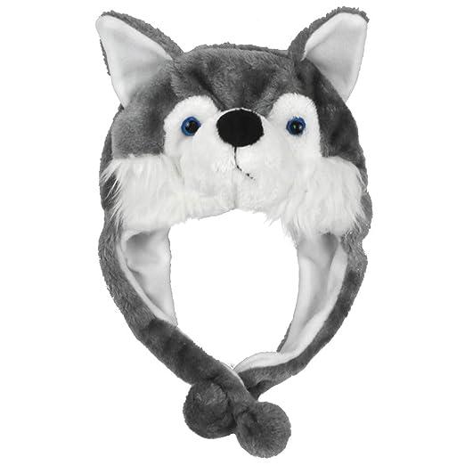 Amazon.com  Lacheln Cartoon Stuffed Animal Beanie Hat Plush Christmas Xmas  Party Costume Headwear for Adults Kids c979d391dbc