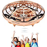 Mini UFO Flying Ball Toys, Hand-Controlled Drone With 5 Infrared Sensors 360°Rotating and Flashing LED Lights Kids…