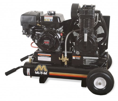 Mi-T-M AM2-PH09-08M Portable Air Compressor, 8-Gallon, Two Stage with Gasoline