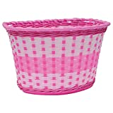 Oxford Girl's Woven Bike Basket - Pink