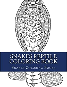 snakes reptile coloring book large print one sided stress relieving relaxing reptile snake coloring book for grownups women men youths easy snakes designs patterns for relaxation