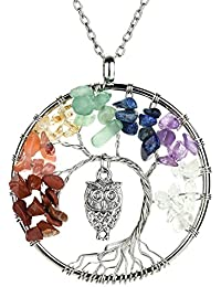 Tree Of Life Pendant Necklace with 2 Chains + 2 Waxed...