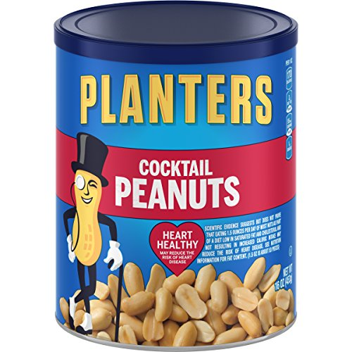 (Planters Salted Cocktail Peanuts (16oz Canister, Pack of 3))