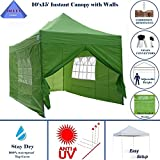 10'x15′ Ez Pop up Canopy Party Tent Instant Gazebos 100% Waterproof Top with 4 Removable Sides Emerald – E Model By DELTA Canopies … Review