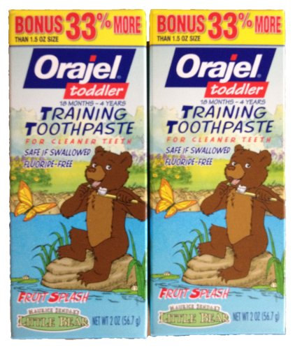 Orajel Toddler Training Toothpaste - Little Bear - 2 Pack