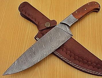 Poshland RK-L -1319 – Cuchillo de Chef Hecho a Mano de Acero de ...