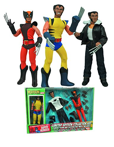 - Diamond Select Toys Marvel Retro Cloth Wolverine Limited Edition Box Set Action Figure