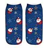 Hengshikeji Women Man Unisex Socks Christmas 3D Sublimated Print Novelty Causal Low Cut Ankle Paw Crew Socks