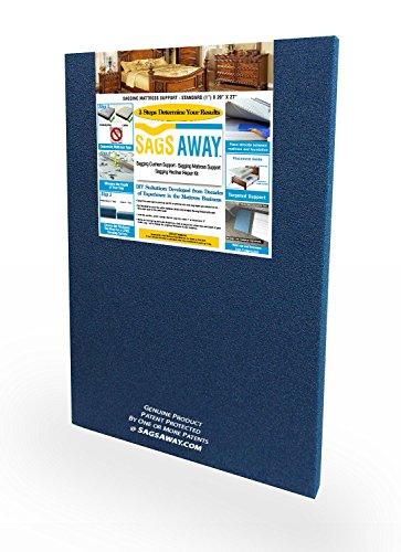 Industrial Strength Under Mattress Support Foam Board To Fix Sags. Firm Reinforcement Gives Lift to Repair Any Sagging Twin, Full, Queen and King Innerspring Or Latex Bed Or Bunk Up To 14 Inches Thick - Support Mattress