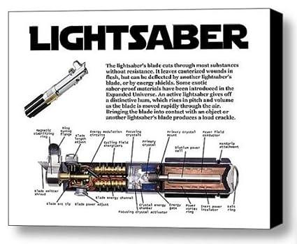 Amazon.com : Framed Star Wars Lightsaber Light Saber Sword 9x11 Inch on