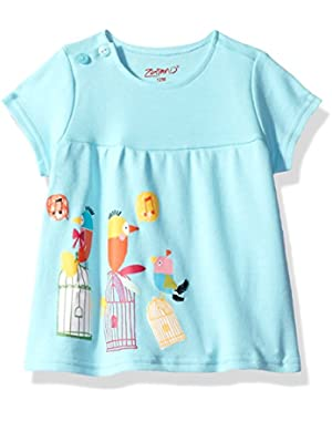 Baby Girls' Short Sleeve Peasant Top